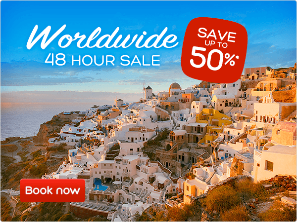 Worldwide 48 hour sale - Save up to 50%*