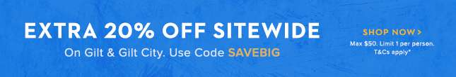 Extra 20% Off Sitewide