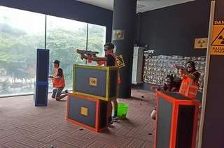 Combat Zone: 3 Missions Basic Retaliator Indoor Shooting Nerf War