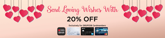 Send Loving Wishes with 20% OFF