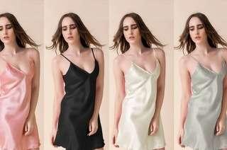Ladies Silky Night Gown
