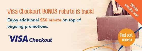 Visa Checkout BONUS rebate is back!