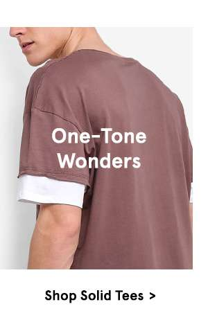 One-tone wonders - Shop Solid Tees