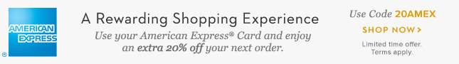 Extra 20% Off With American Express Card
