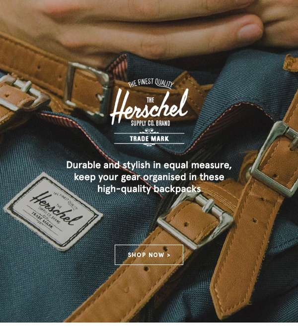 Herschel - Durable and stylish in equal measure, keep your gear organised in these high-quality backpacks. Shop Now