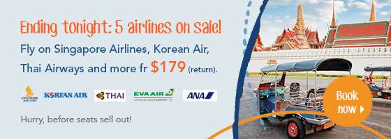 Ending tonight: 5 airlines on sale!