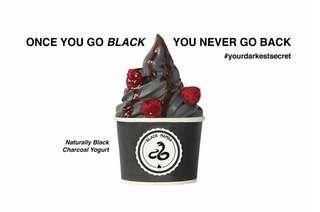 Black Mamba: 2 Cups Italian Soft Serve BLACK yogurt