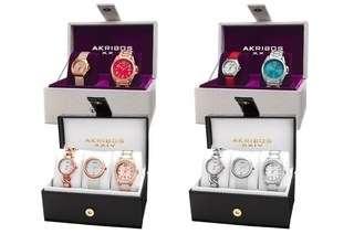 Akribos Ladies Watch Set