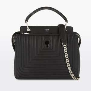 FENDI Dotcom quilted leather cross-body