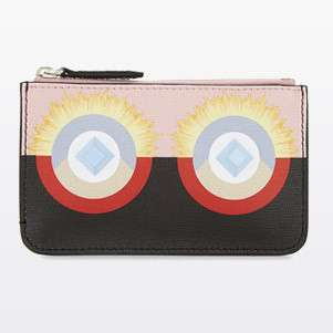 FENDI Mini monster leather pouch