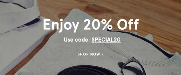 Enjoy 20% off with code SPECIAL20. Shop Now