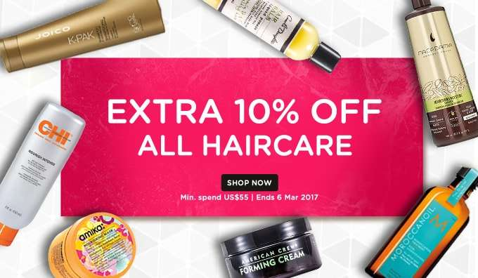 Extra 10% Off All Makeup! *Min. spend US$55 | Ends 6 Mar 2017