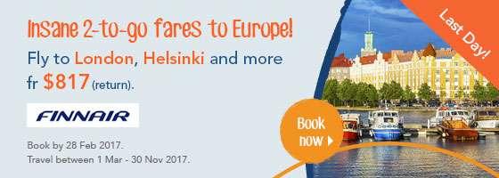 Insane 2-to-go fares to Europe!