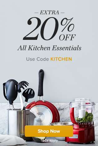 Extra 20% Off All Kitchen Essentials