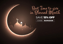 Best Time to Give in Blessed Month - Save 15% OFF