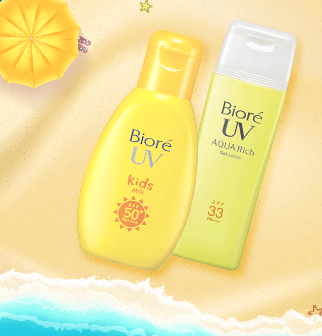 Biore sunscreen selection: $10.90 - $18.90
