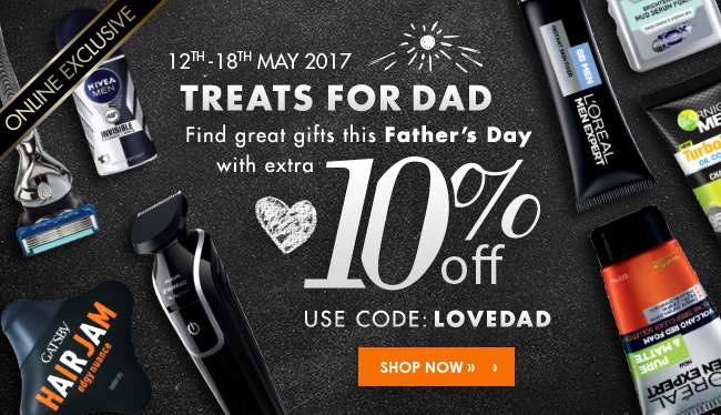 Treats for Dad - 10% off for Father's Day. Promo code: LOVEDAD