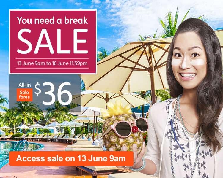 You Need a Break Sale