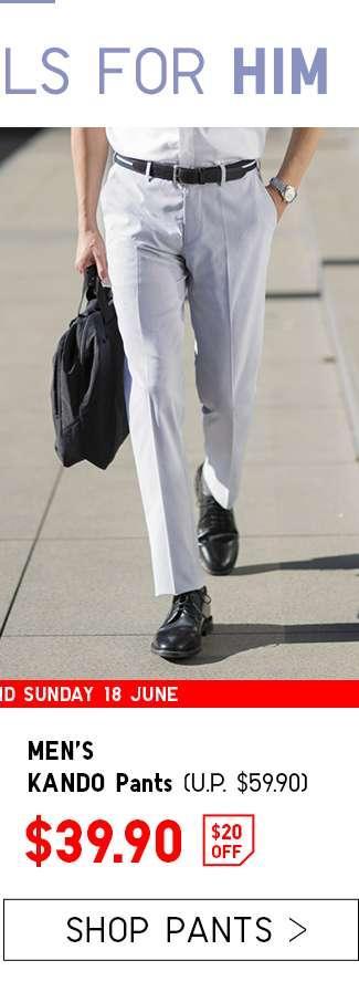 $20 OFF | Shop Men's KANDO Pants at $39.90