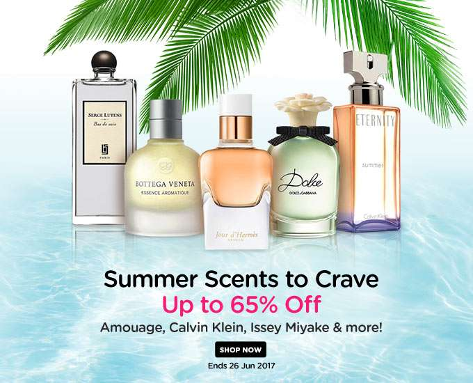 Summer Scents to Crave Up to 65% Off! Amouage, Calvin Klein, Issey Miyake & more! Ends 26 Jun 2017
