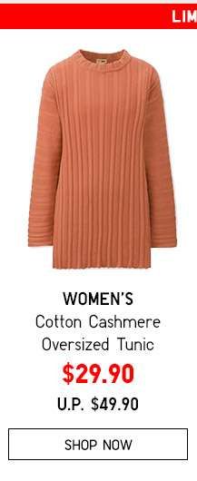 Shop Women's Cotton Cashmere Oversized Tunic