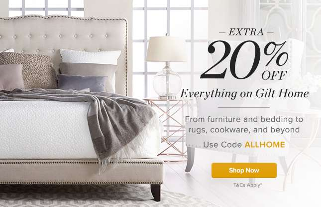 Extra 20% Off All Bedding & Bath