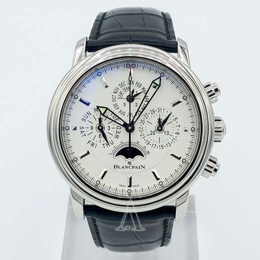Men's  Blancpain Leman Flyback Chrono Perpetual Calendar Watch