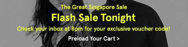 Flash Sale Tonight. Check your inbox at 8pm for your exclusive voucher code!