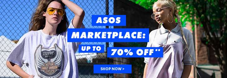 Now up to 70% off ASOS Marketplace**