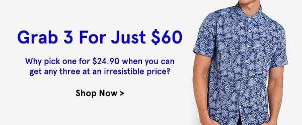 Grab 3 for 60 dollars