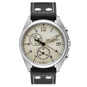 Men's Hamilton Khaki Aviation Pilot Pioneer Chrono Watch