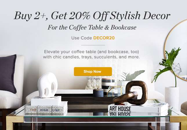 Buy 2 or more, Get 20% Off Decor