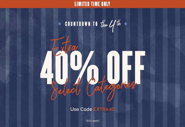 Extra 40% Off Select Categories