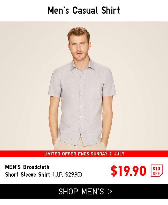 Shop Men's Broadcloth Short Sleeve Shirt at $19.90
