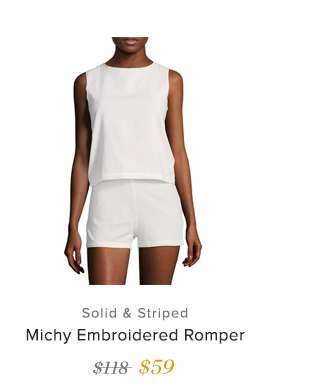 Michy Embroidered Romper