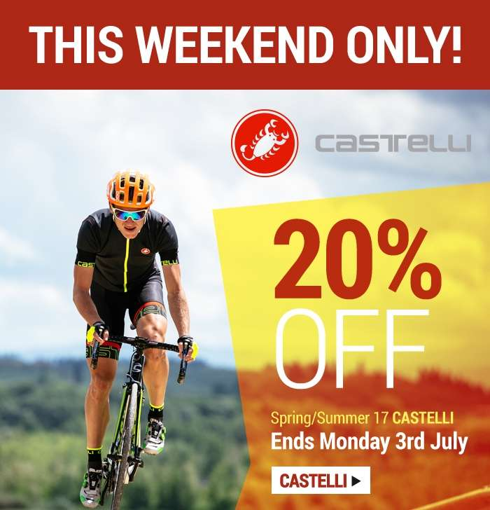 20% OFF Spring/Summer 17 Castelli