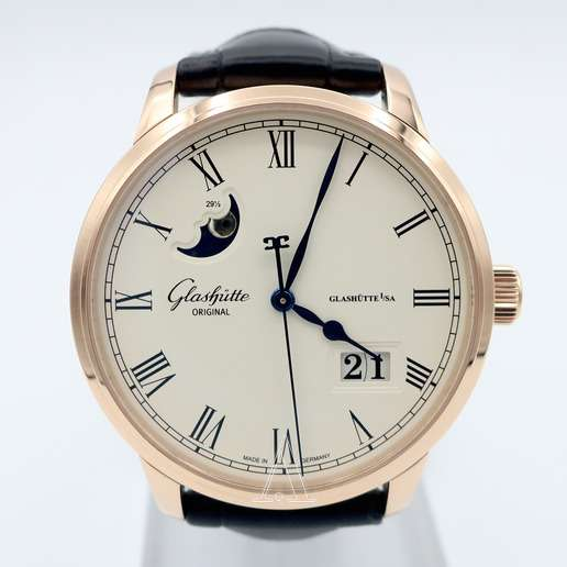 Men's Glashutte Senator Panorama Date Moonphase Watch