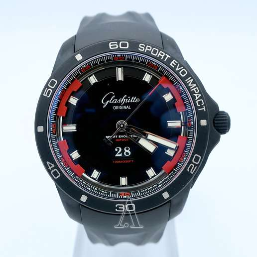 Men's  Glashutte Sport Evolution Impact Panorama Date Watch