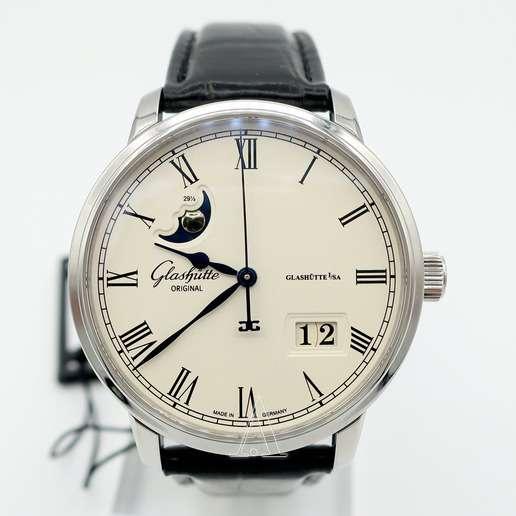 Men's  Glashutte Senator Panorama Date Moonphase Watch