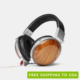 E-MU Wood Headphones w/ Removable Cable