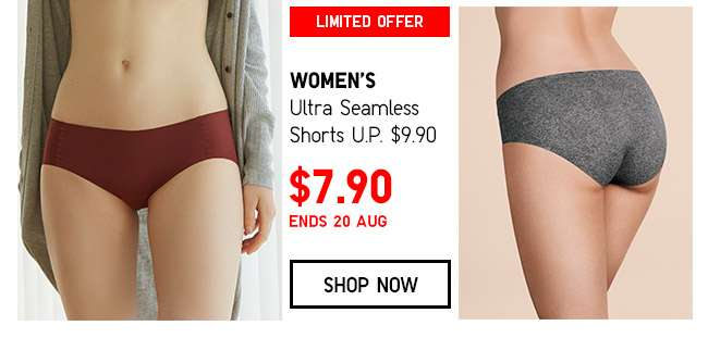 Shop Women's Ultra Seamless Shorts on Limited Offer