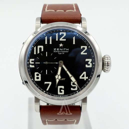 Men's  Zenith Pilot Montre d'Aeronef Type 20 Watch