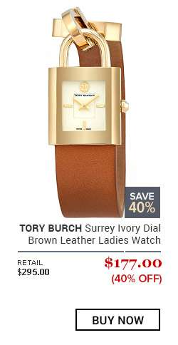 TORY BURCH Surrey Ivory Dial Brown Leather Ladies Watch