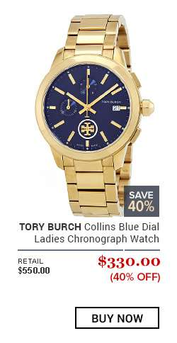 TORY BURCH Collins Blue Dial Ladies Chronograph Watch