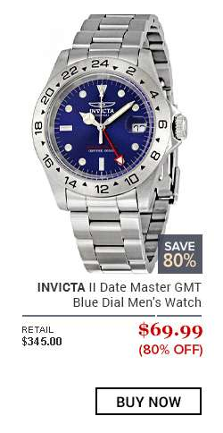 INVICTA II Date Master GMT Blue Dial Men's Watch