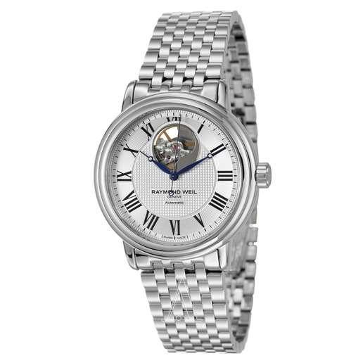 Men's  Raymond Weil Maestro Automatic Open Balance Wheel Watch