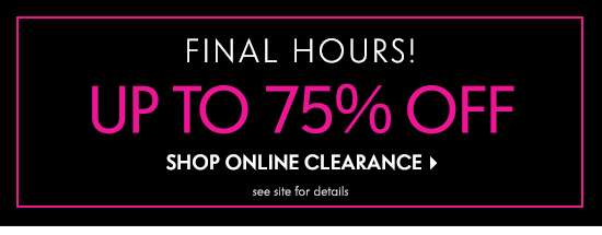 Final Hours 75% Off