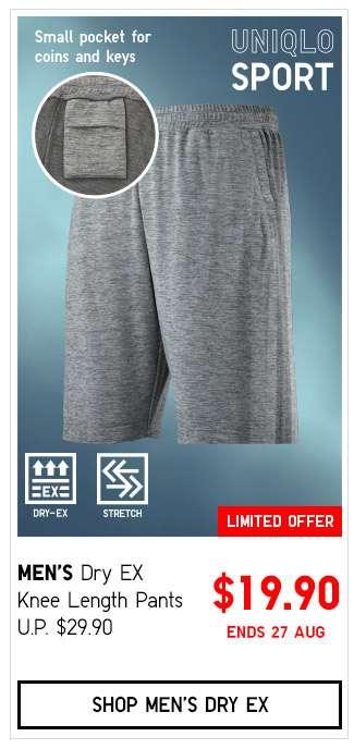 Shop Men's Dry EX Knee Length Pants $19.90