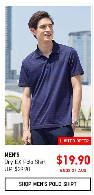 Shop Men's Dry EX Polo Shirt $19.90