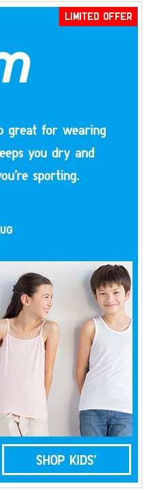 Shop Kids' AIRism on Limited Offer